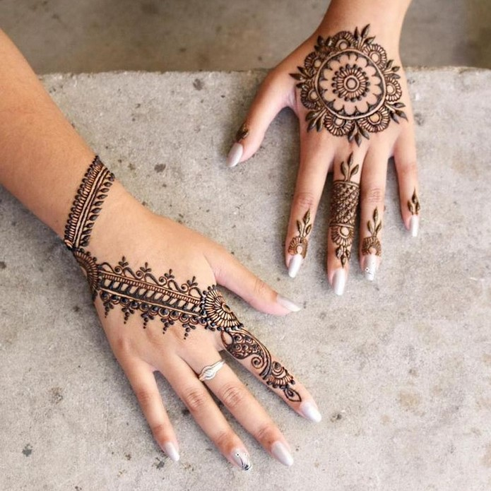 30 basic mehndi designs for hands and feet4