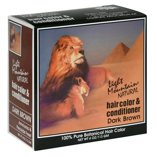 1. Light Mountain Natural Hair Color & Conditioner, Dark Brown