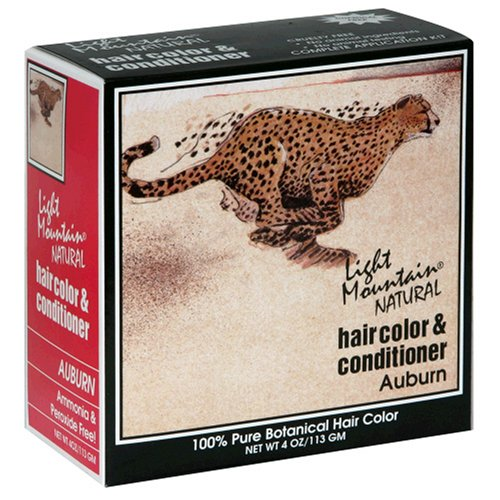 4. Light Mountain Natural Hair Color & Conditioner, Auburn