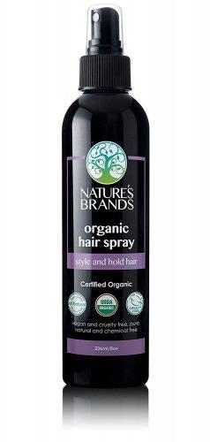 non toxic hair spray nature brand