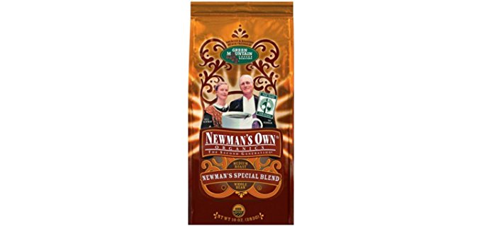 Newman's Own® Organic Decaf Coffee Blend. Medium Dark Roast Decaf Coffee Bean Blend