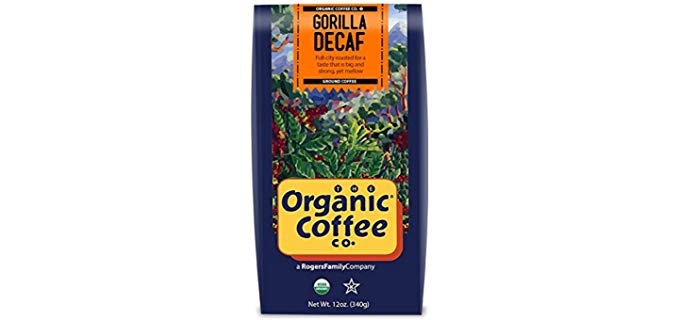 The Organic Coffee Co.® Decaf Coffee All Natural Water Process Gorilla Decaf Coffee