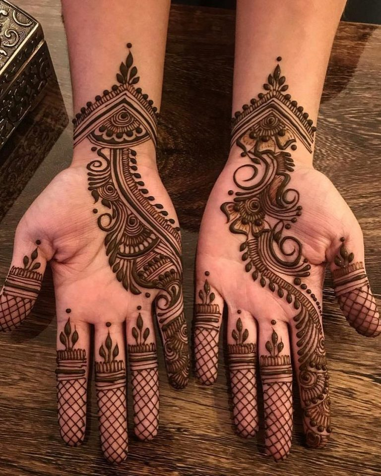How is henna used on hands