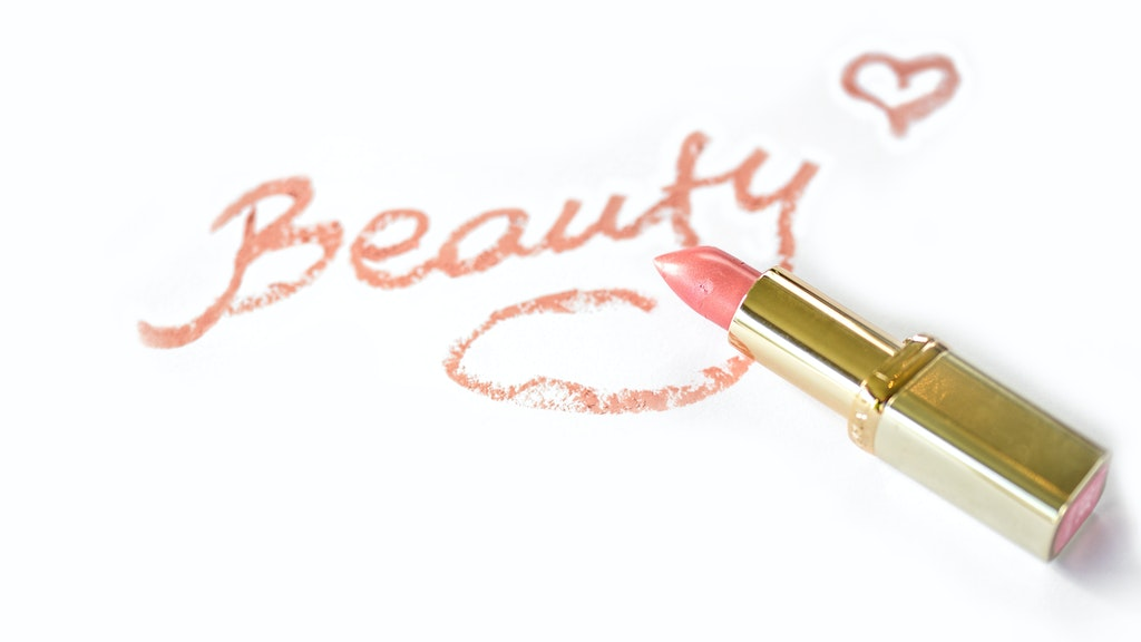 beauty written with pink lipstick 2957497