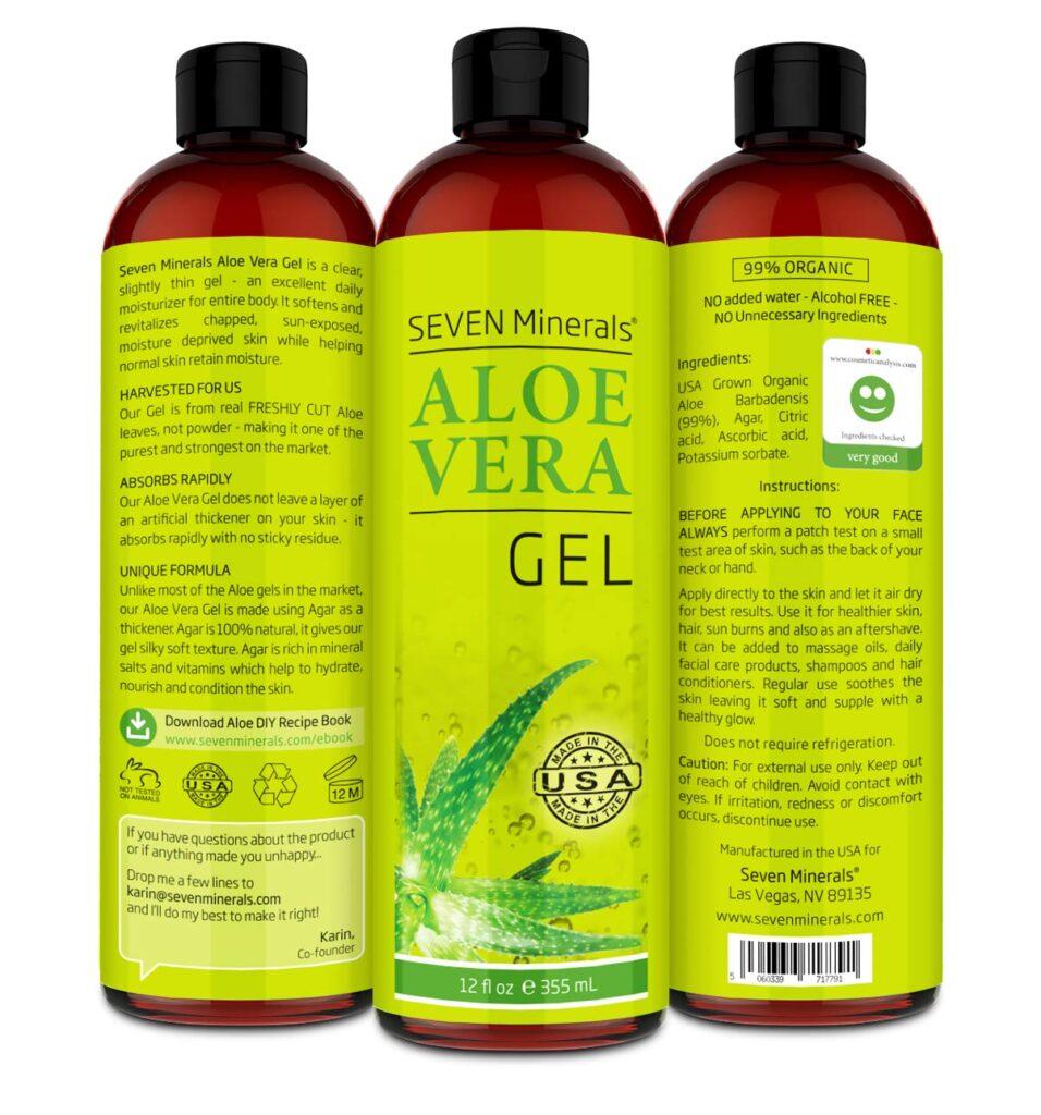 Seven Minerals Aloe Vera Hair Gel 1