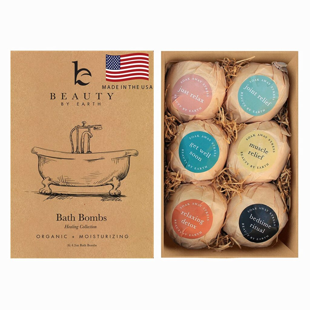 Beauty by Earth Organic Bath Bombs Gift Set