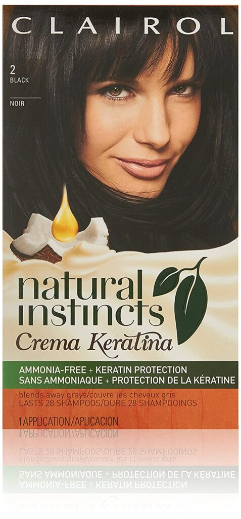 Clairol Natural Instincts Cream Keratina Permanent Black Hair Color
