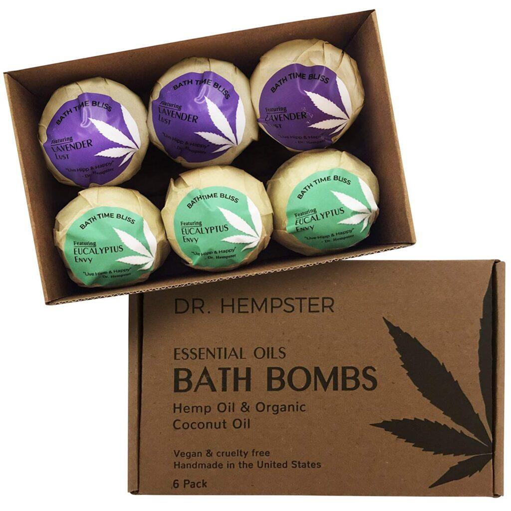 Dr. Hempster Organic Vegan Hemp Bath Bombs