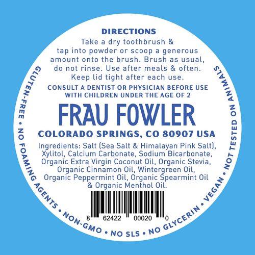 Frau Flower Tooth Powder ingredients