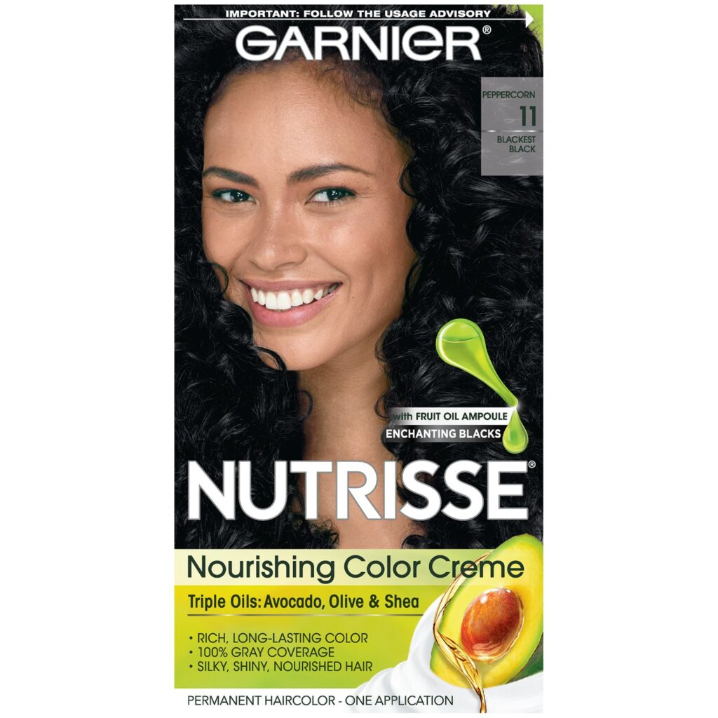 Garnier Nutrisse Nourishing Hair Color Creme black 1