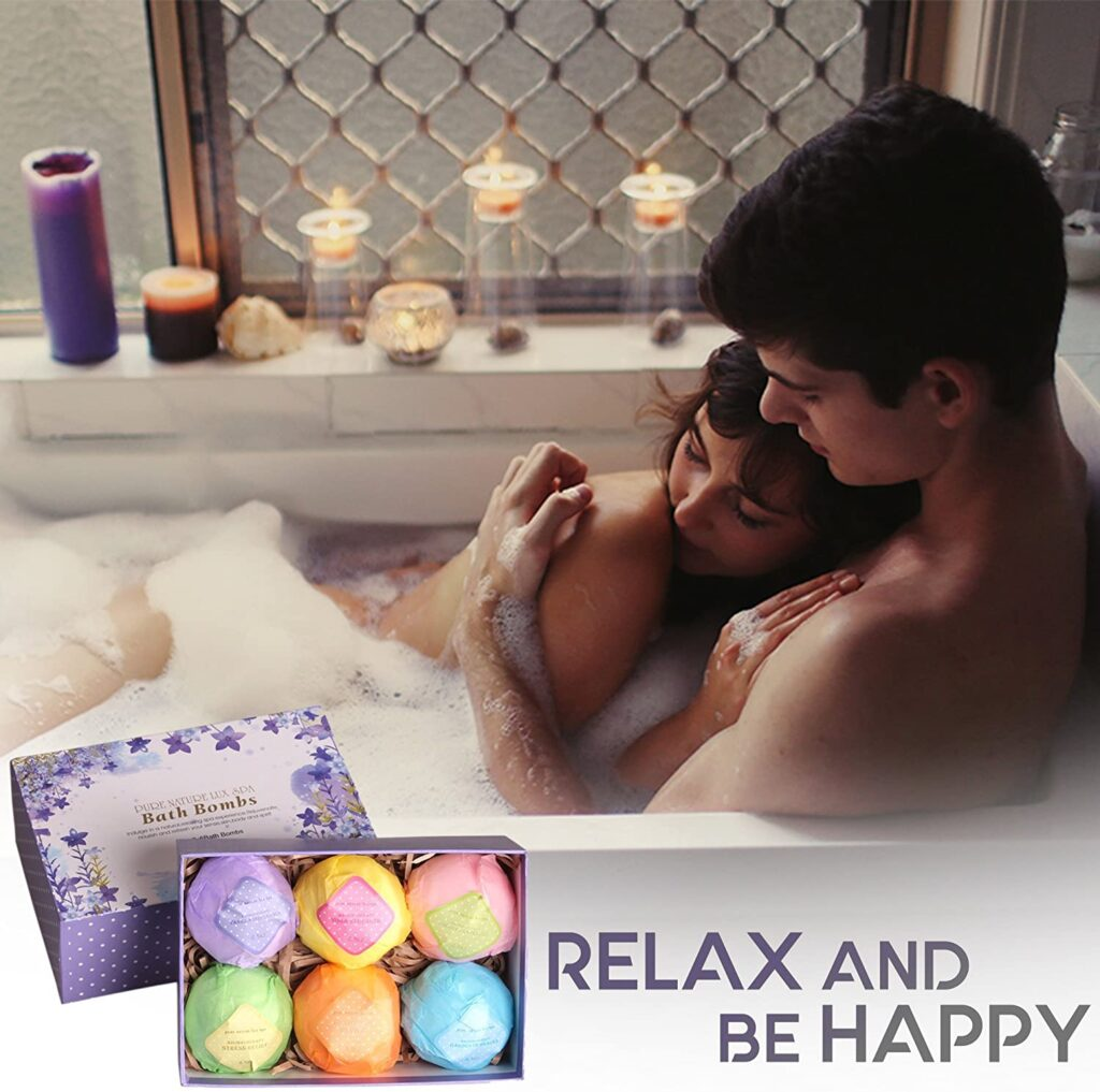LuxSpa Organic Bath Bombs Gift Set