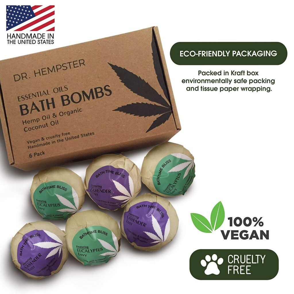 Dr. Hempster Natural Organic Essential Oil Bath Bombs