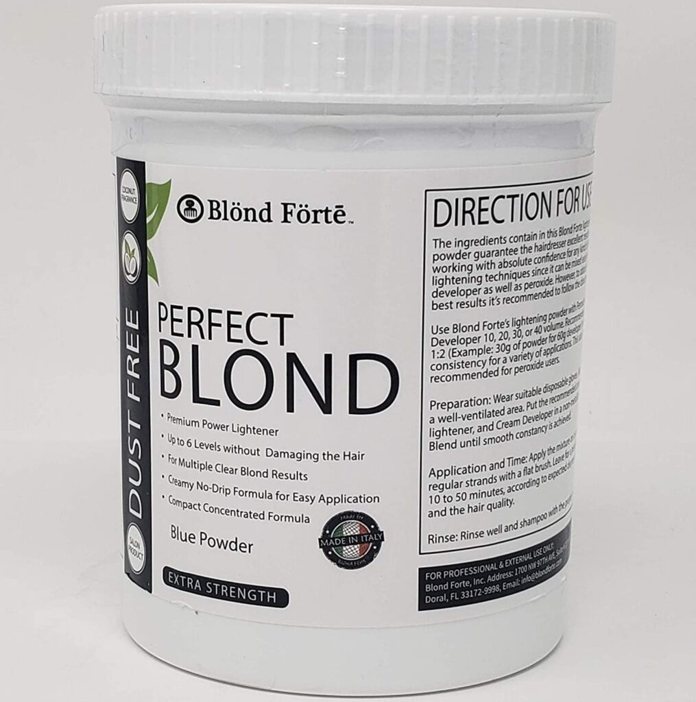 Blond Forte Perfect Blond Extra Strength Professional Hair Lightener Bleach