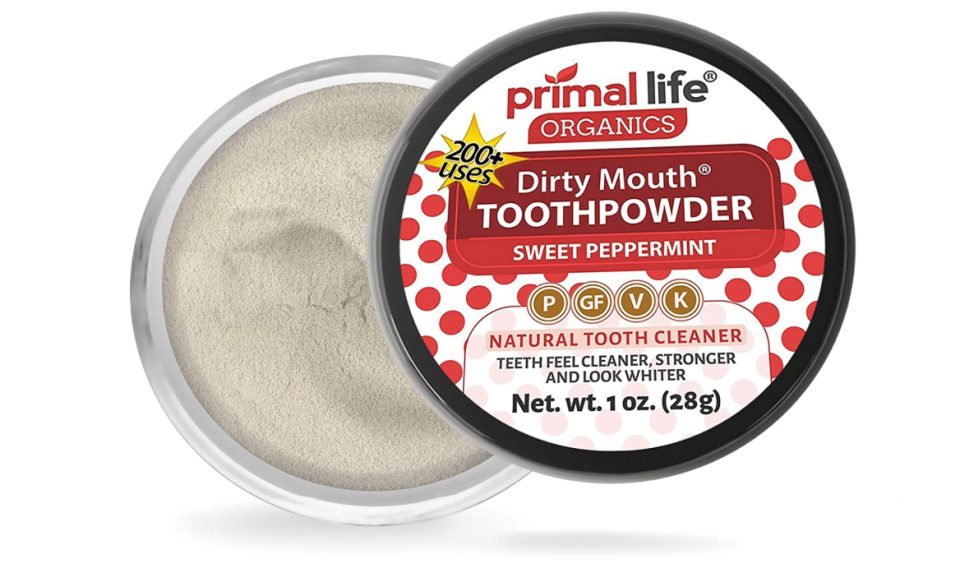 Primal Life Organic Dirty-Mouth Natural Tooth Powder