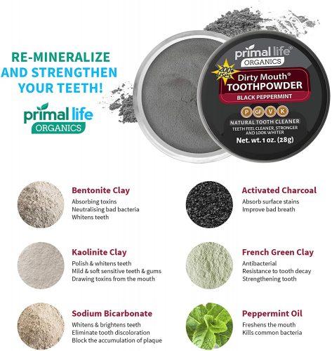 Primal Life Organics Tooth Powder ingredients