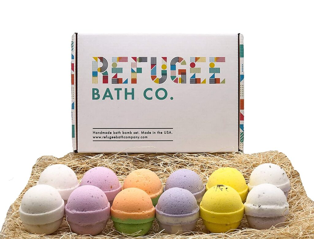 Refugee Bath Co. Natural and organic Bath Bombs Variety Pack