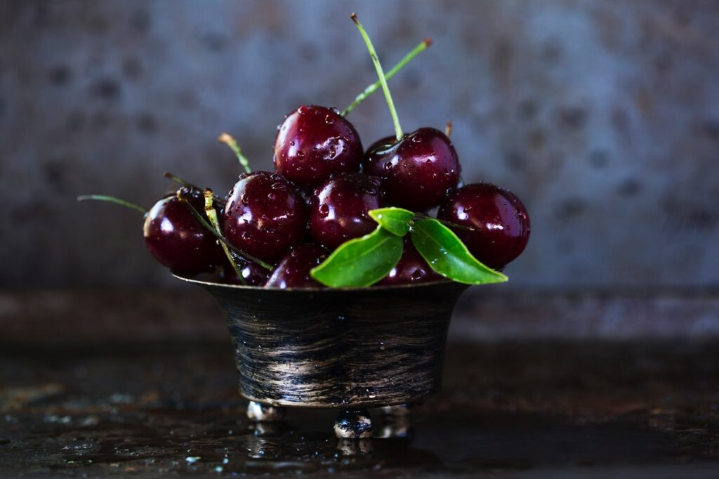 natural food for healthy skin olive oil cherries